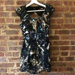 Constellation Print Mini Dress